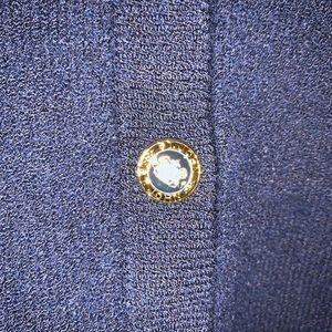 St. John Sweaters - St John Basics Navy Blue Sweater Cardigan